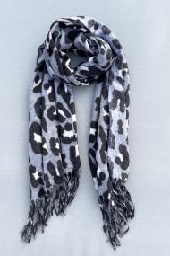 """Sjaal """"Leopardszzz"""" grijs"""