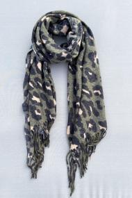 """Sjaal """"Leopardszzz"""" groen"""