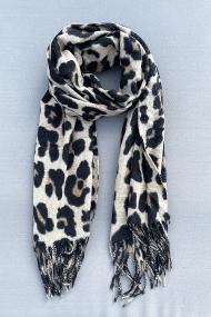 """Sjaal """"Leopardszzz"""" beige"""