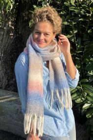 """Sjaal """"Pilar"""" jeansblauw"""