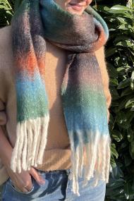 """Sjaal """"Pilar"""" groen-oranje"""