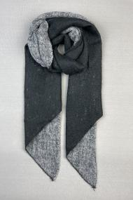 "Sjaal ""Nynke-Double-Color"" zwart-grijs"