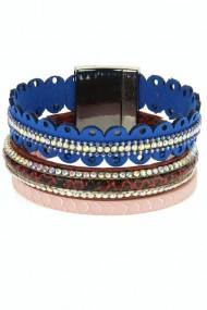 "Armband ""Crown"" blauw"