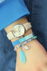 "Armband ""Cord"" blauw"