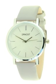"Ernest horloge ""Silver Andrea"" lichtgrijs"