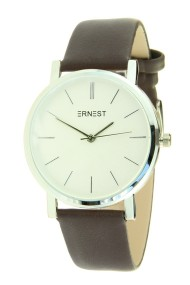 "Ernest horloge ""Silver Andrea"" choco"