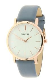"Ernest horloge ""Rosé-Andrea"" jeansblauw"