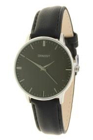"""Ernest horloge """"Fancy-Andrea"""" zilver-zwart"""