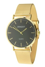 "Ernest horloge ""Grace"" goud-zwart"