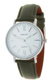 """Ernest horloge """"Silver-Kelsey"""" donkergroen"""