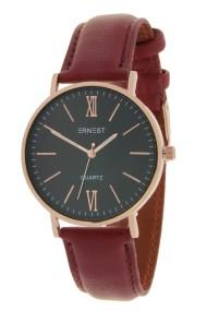 "Ernest horloge ""Rosé-Kelsey"" bordeaux-zwart"
