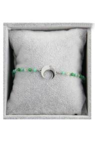 "Armband ""Moon & Beads"" groen"