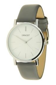 """Ernest horloge """"Silver Andrea"""" donkergrijs"""