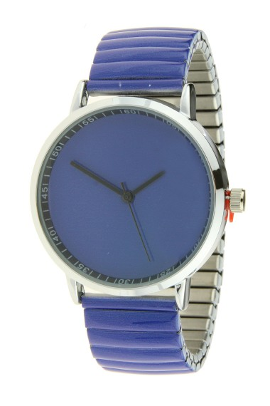 """Ernest horloge """"Fancy Plain"""" kobalt"""