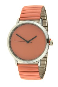 """Ernest horloge """"Fancy Plain"""" donker koraal"""
