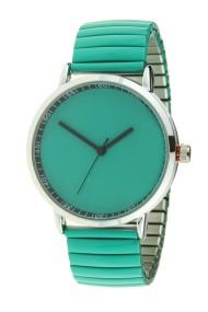 "Ernest horloge ""Fancy Plain"" turquoise"