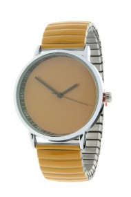 """Ernest horloge """"Fancy Plain"""" mostard"""