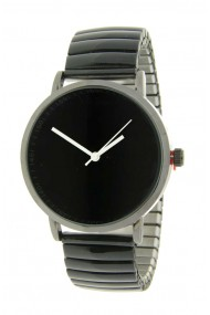 "Ernest horloge ""Fancy Plain"" zwart"