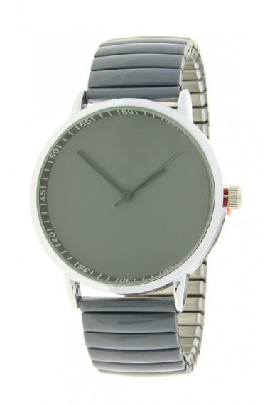 "Ernest horloge ""Fancy Plain"" donkergrijs"