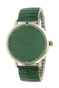 """Ernest horloge """"Fancy Plain"""" donkergroen"""