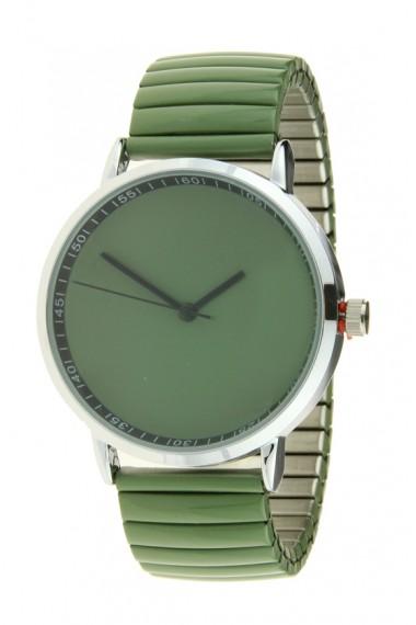 "Ernest horloge ""Fancy Plain"" legergroen"