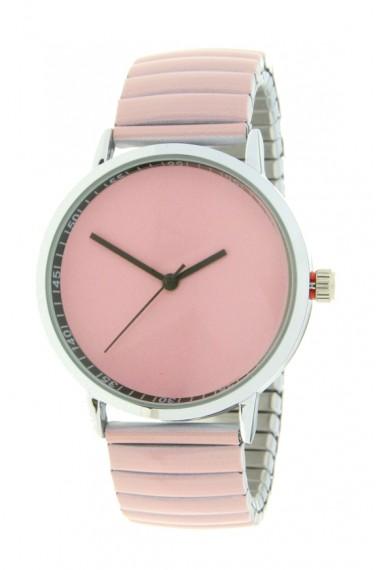 """Ernest horloge """"Fancy Plain"""" lichtroze"""