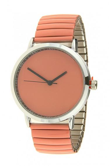 "Ernest horloge ""Fancy Plain"" donkerkoraal"