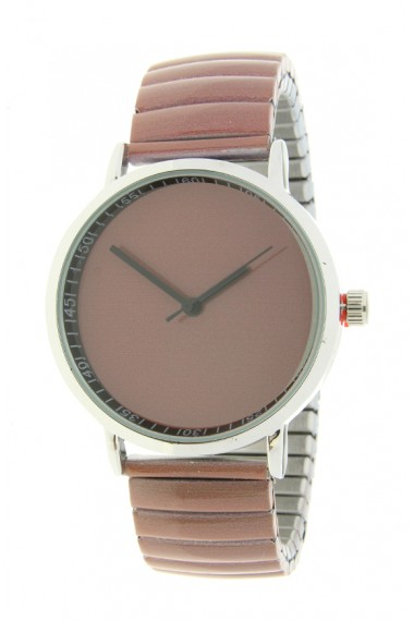 "Ernest horloge ""Fancy Plain"" mocca"