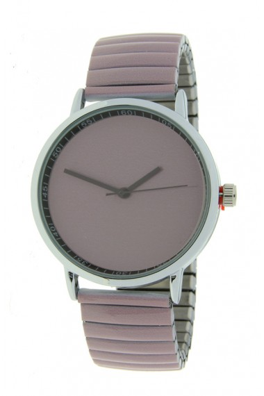 "Ernest horloge ""Fancy Plain"" taupe"