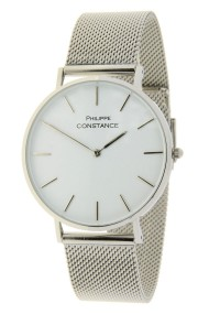 "Philippe Constance ""Full Stainless Steel Large"" zilver-wit"